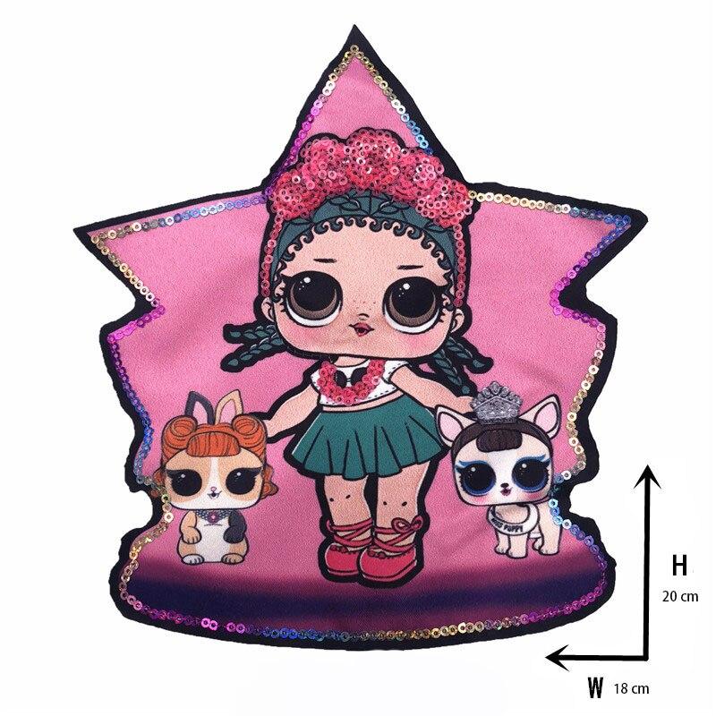 Мультяшные нашивки женские модные куклы лол для девочек Милая Модная Кукла-мальчик вышивка на одежду ручная работа украшение одежды Блестки Ткань - Цвет: new Xx-1