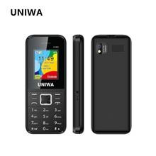 UNIWA E1802 Keypad Phone Senior Push-button Phones Long Standby FM GSM Phone Radio Russian Hebrew Keyboard Cellphone