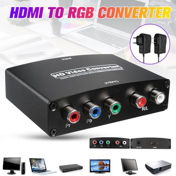 1080P HDMI to RGB Component 5 RCA YPbPr Video + R/L Audio Converter Adapter TV PC