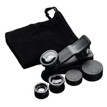 3-in-1 Wide Angle Macro Fisheye Lens Camera Kits Mobile Phone Fish Eye Lenses with Clip 0.67x for All Cell Phones