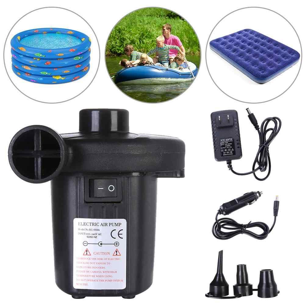 2 in1 Electric Air Bed Pump Camping Paddling Pool Mains Inflator UK Plug 220V UK