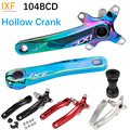 IXF 104 BCD велосипедный кривошипный комплект с осевым шпинделем MTB Hollowtech шатуны для велосипеда дорожного велосипеда кривошипный рычаг 104BCD
