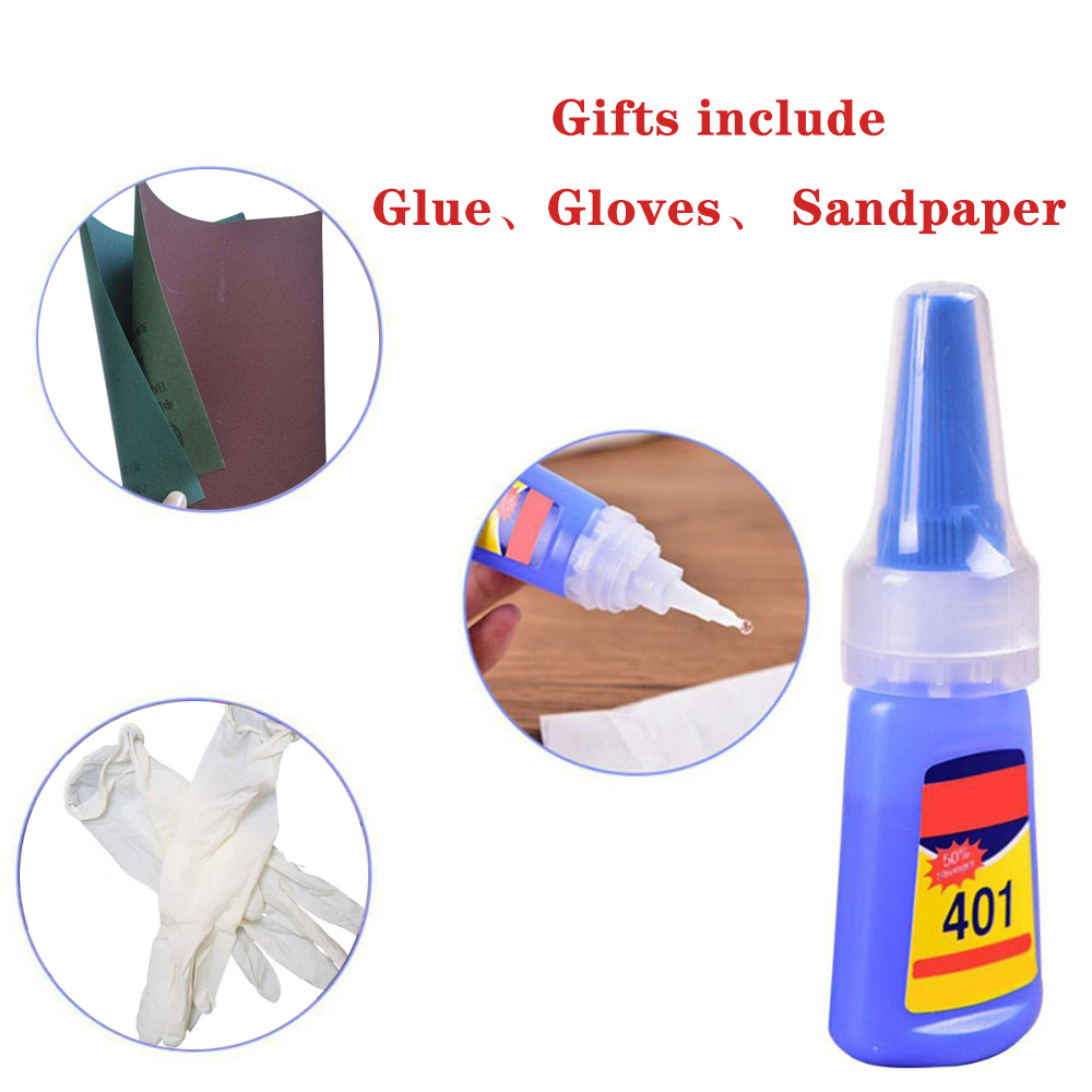 Car Tire Tticker Glue, Sandpaper, Gloves Stickers For Tire