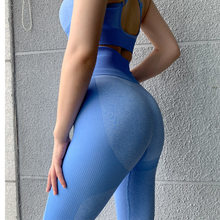2019 Seamless High Waist Yoga Leggings Women Workout Breathable Fitness Clothing Training Pants Push Up Female Sports Leggings(China)
