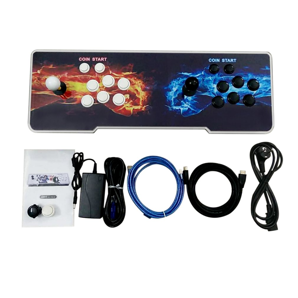 875 Classic Games Double Fists Pattern Home Multiplayer Arcade Game Console Controller Kit Set Double Joystick Console