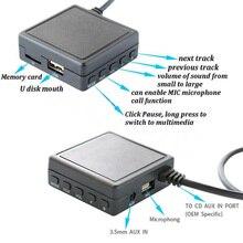 Auto Bluetooth Aux Usb Kabel Adapter Audio Mic Voor Alpine Ai Net Jvc KS U58 PD100 U57 Bluetooth Aux Kabel met Microfoon