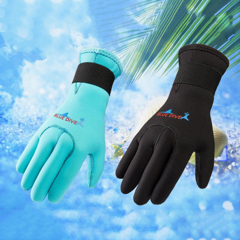 Women Men Swim Diving Gloves Neoprene Anti-slip Warm Wetsuit Gloves Swimming Snorkeling Surfing Gloves For All Water Activities