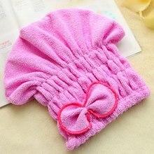 Креативная шапочка для душа, обернутые полотенца с бантом из микрофибры, шапки для ванной комнаты из сверхтонкого волокна, шапка для быстрой сушки волос, аксессуары для ванной