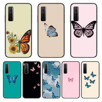 Nice Flower Butterfly Phone Case For Huawei Nova p10 lite 7 6 5 4 3 Pro i p Smart ZBlack Etui 3D Coque Painting Hoesje image