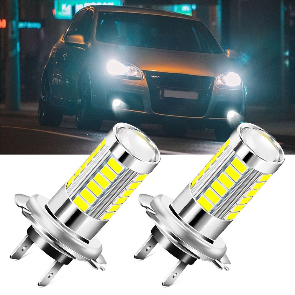 2 предмета H7 6000K лампа фары автомобиля лампы для Volkswagen VW Polo Golf 3 Жук MK2 MK3 MK4 MK5 MK6 Бора CC Passat B6 B5 B7