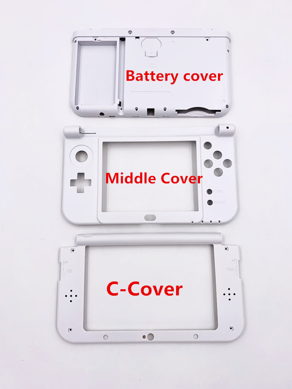 Brand New Middle <font><b>Cover</b></font> For New <font><b>3DS</b></font> XL LL With <font><b>Battery</b></font> <font><b>Cover</b></font> and C-<font><b>Cover</b></font> 3 Parts Replacement image