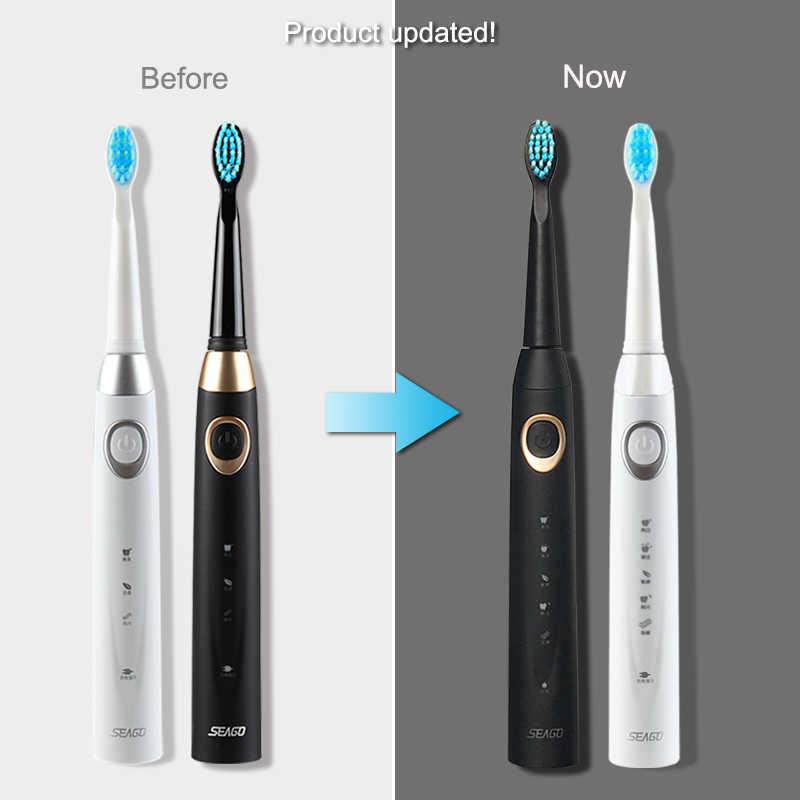 Elektryczna szczoteczka do zębów SEAGO elektryczna szczotka do zębów akumulatorowa szczotka do masażu Sonic przenośny pojemnik czyszczenie zębów szczoteczka podróżna