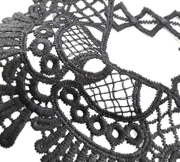 CALDO cotone bianco nero del ricamo del fiore del merletto del collare del Tessuto Da Cucire Applique FAI DA TE guipure del mestiere del nastro trim scollo decorazione di cerimonia nuziale