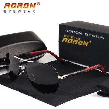 AORON Polarized Sunglasses Mens Classic Sun Glasses UV400 Coating Lens Alloy Frame Driving Eyewear For Men aoron photochromic polarized mens sunglasses classic rectangle sun glasses uv400 aluminum magnesium leg sunglasses