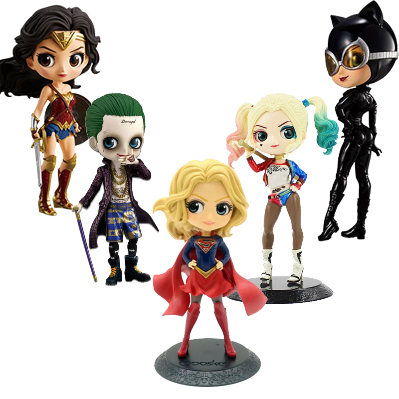 DC Comics Q Posket Sexy Figure Catwoman Harley Quinn The Joker Wonder Woman Figure QPosket Model Toys Christmas Gift