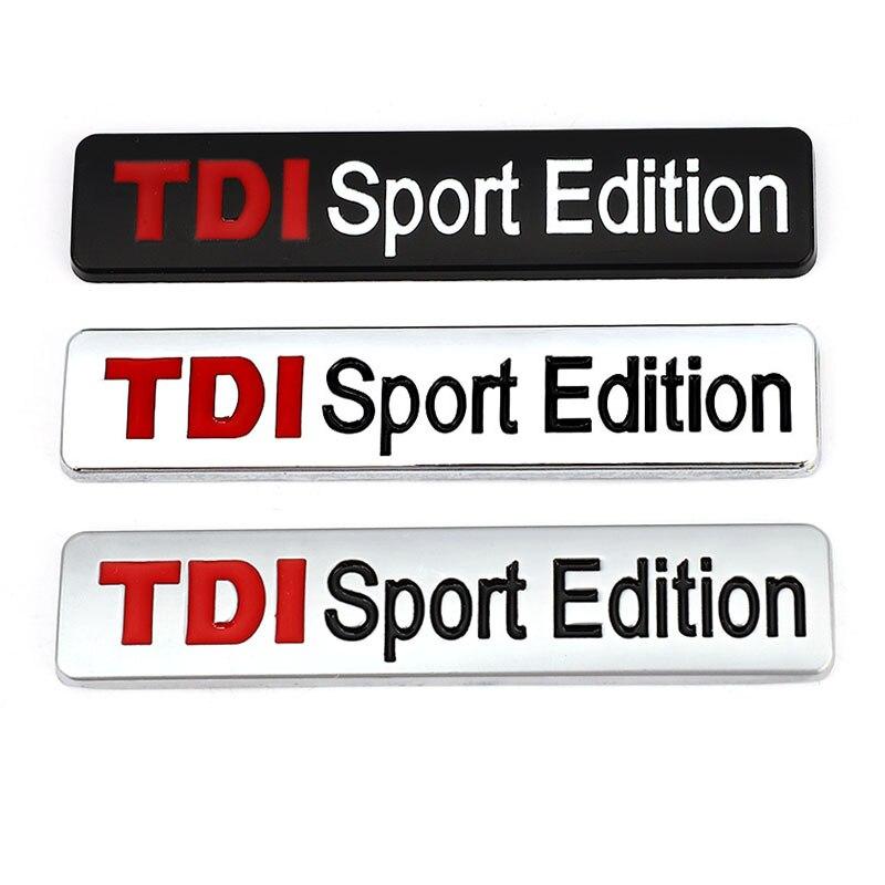 3D металлический TDI спортивный выпуск логотип турбо автомобиль наклейка эмблема значок наклейка для VW POLO GOLF CC TT JETTA GTI TOUAREG Passat MK4 MK5 MK6
