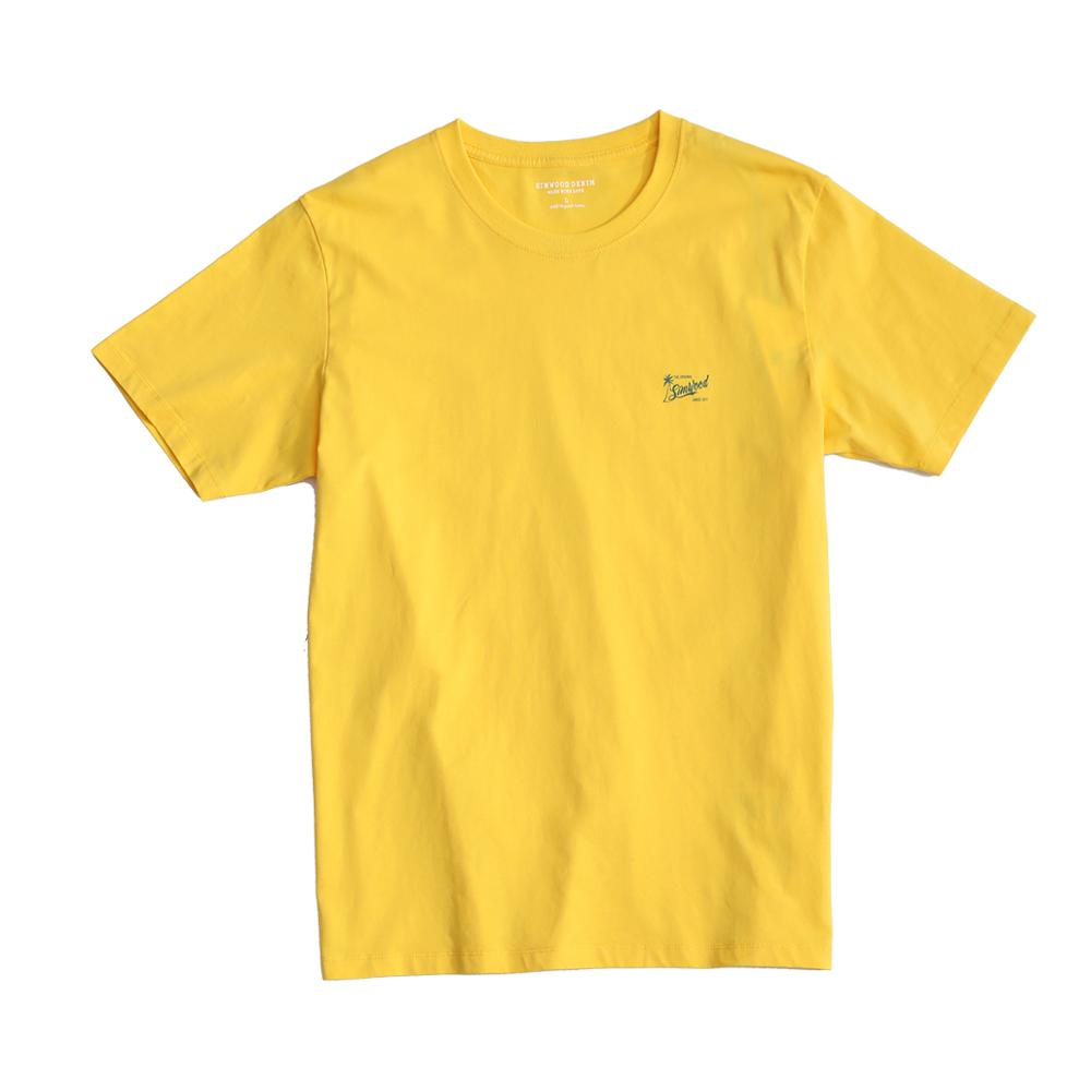 SIMWOOD 2020 Summer New 100% cotton T-Shirt Men Logo-Print soft comfortable tops breathable fashion loose tees plus size t shirt Men Men's Clothings Men's Tee Men's Tops cb5feb1b7314637725a2e7: Deep royal blue|Lemon yellow|Mint green|Pink blue|Vibrant orange|Pink|White