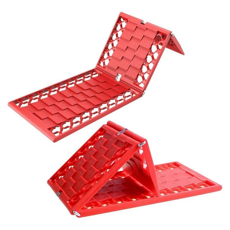 2PCS Rubber Foldable Car Wheel Anti-Skid Pad Folding Skid Plate Tire Traction