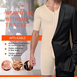 Image 4 - Shapers Sexy Mens Body Shaping Control Slim Corset Shapeware Bodysuit Body Shaper Body PantsWaist Cincher Belly Control Slimming
