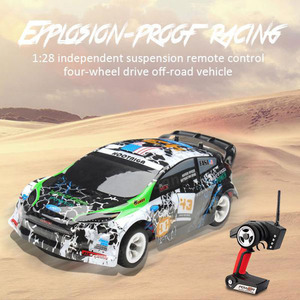 Wltoys K989 1/28 2.4G 4WD Brushed RC Remote Control Rally Car RTR with Transmitter Off-Road Remote Control RC Car Children Toys