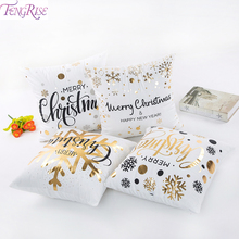 45X45CM Merry Christmas Decorations For Home Santa Claus Cushion Cover Gifts Xmas Navidad 2019 New Year 2020