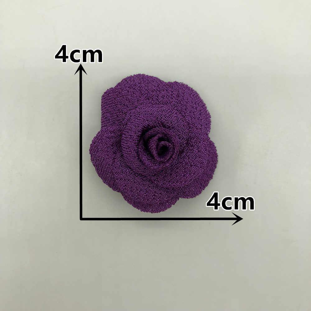 Mutiara Rami 3D Rose Bunga Buatan Tangan Karangan Bunga Natal Bunga Buatan untuk Dekorasi DIY untuk Rumah Dekorasi Aksesori Scrapbooking