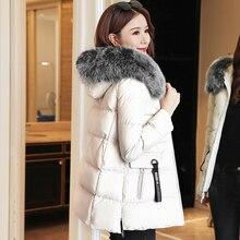 Winter Jacket Women Korean Fashion Woman PU Leather Parka Coat Fur Hooded Parkas Plus Size