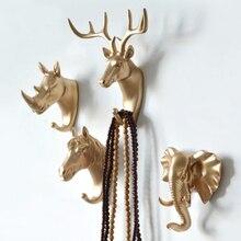 Настенный крючок-вешалка для домашнего украшения стены Халат с капюшоном в виде животного стеллаж для выставки товаров