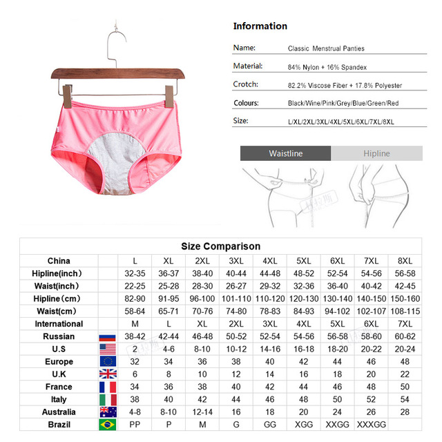 Women Breathable Physiological Panties Sexy Menstrual Leak Proof Underwear Women Mid Waist Warm Healthy For Girls Briefs DULASI 5