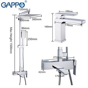 Image 5 - GAPPO 白流域の蛇口水シンク流域ミキサータップ浴槽の蛇口バスタブ浴室のシャワーセット