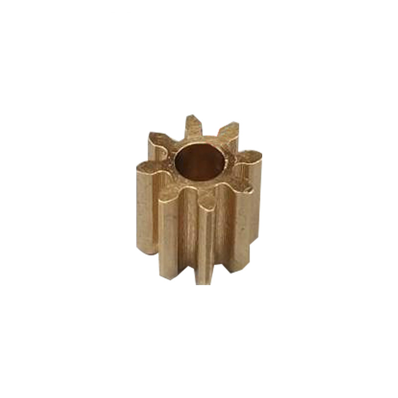 5PCS Metal Gears 0.5 Modulus 8 Teeth Gearbox Moter Shaft Copper Gear