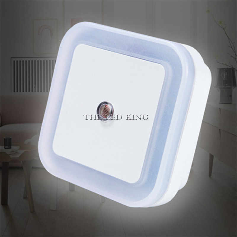 US EU Plug Light Sensor Control Night Light Mini EU US Plug Novelty Square Bedroom Lamp for Baby Gift Romantic Colorful Lights