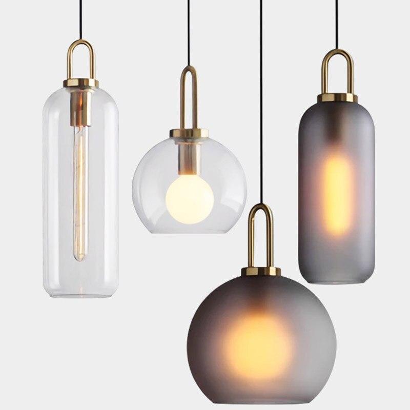 Lampe Industrielle Nordique Cristal Decoration De La Maison E27 Luminaire Salon Restaurant Pendentif Lumieres Luminaire Lampe A Main