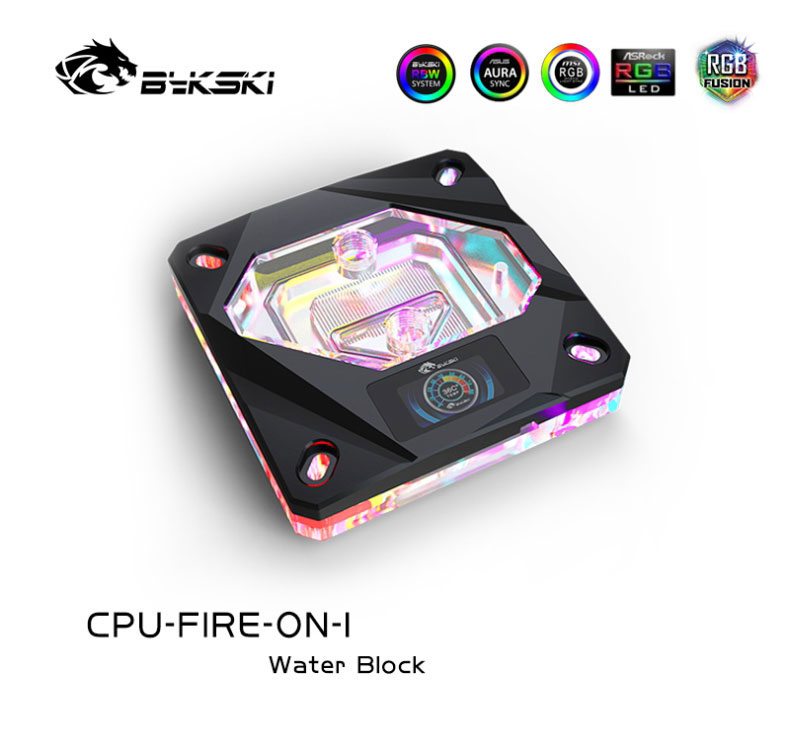 Bloque de agua Bykski CPU-FIRE-ON-I CPU con pantalla de temperatura OLED para INTEL LGA1150/1151/1155/1156 2011 X99Water Cooler A-RGB Intel Xeon E5 2678 V3 e5-2678 V3 CPU 2,5G Serve LGA 2011-3 PC procesador de escritorio para placa base X99