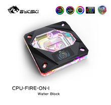 Bykski – bloc d'eau CPU avec affichage OLED de la température, pour refroidisseur d'eau INTEL LGA1150/1151/1155/1156 2011x99