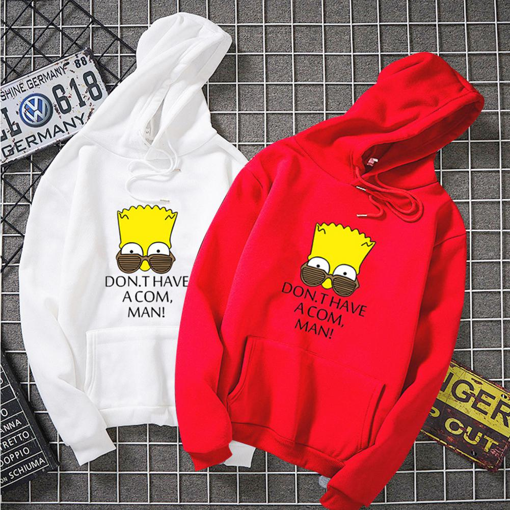 ZACOO Unisex Simpson Cute Pattern Printing Hoodies Couple Pullover Hoodies