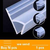 5 м силиконовая резиновая оконная уплотнительная F U h угловая форма дверная Погодная полоса для душевой кабины акустическая панель 6/8/10/12 мм