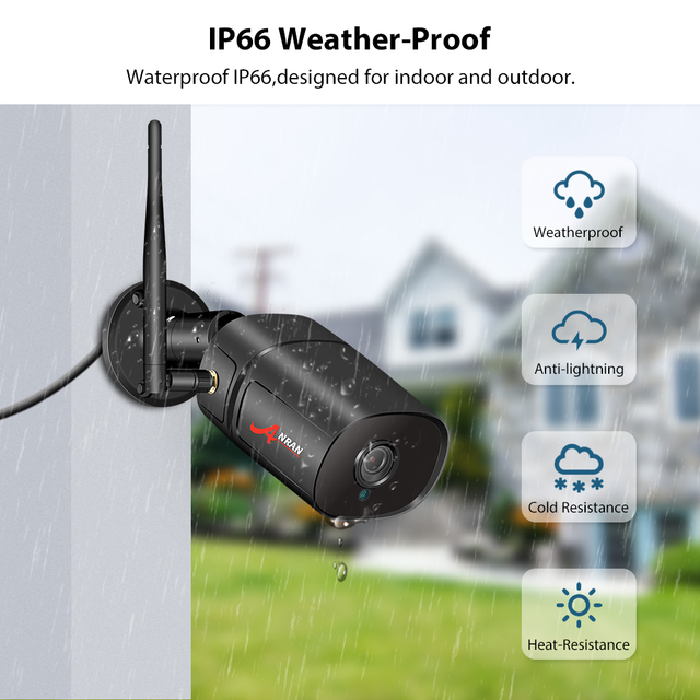 ANRAN 1080P IP Camera Wifi HD Outdoor Infrared Night Vision Security Camera Two Way Audio Wireless Video Surveillance Camera 3