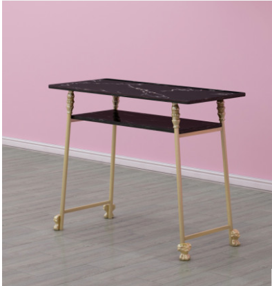 Купить с кэшбэком Gold black marble manicure table and chair single double table manicure table manicure shop table and chair set combination