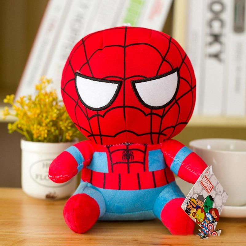 Marvel Мстители 4 плюшевые игрушки супергерой плюшевые куклы Капитан Америка, Железный человек Человек-паук Тор плюшевые мягкие игрушки Человек-паук - Цвет: Золотой