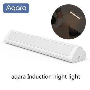 Image 1 - Aqara التعريفي LED ضوء الليل التثبيت المغناطيسي مع جسم الإنسان ضوء الاستشعار 2 مستوى السطوع 3200K درجة حرارة اللون
