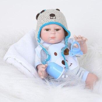 22 inch Full Body Silicone Reborn Baby Doll 50CM Bath Toy Lifelike Newborn Baby Doll Bonecas Babies Reborn Birthday Gift For Kid