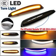 Dinâmico led turn signal light side asa espelho indicador sequencial para hyundai sonata mk6 yf i45 2011 2012 2013 2014