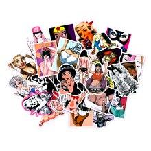 50 Stks/partij Auto Styling Pvc Waterdichte Sexy Schoonheid Meisjes Stickers Laptop Motorfiets Skateboard Bagage Decal Speelgoed Stickers