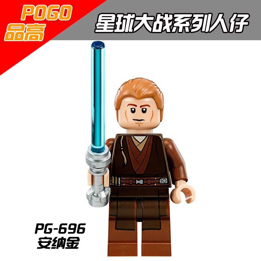 Single Sale Star Wars Figure Starwars K-3PO Yoda Ben Solo Finn Anakin Leia Gungan Malakili Even Piell Blinks Building Blocks Toy