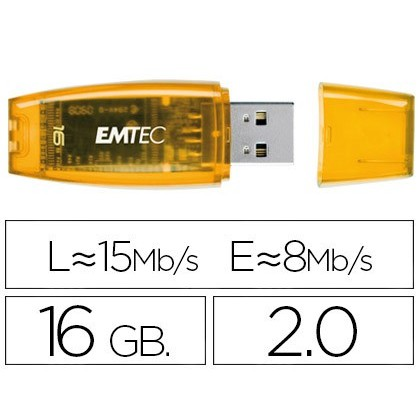 USB MEMORY EMTEC FLASH C410 GB 16 20 RED