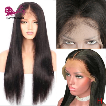 EAYON HAIR Glueless Lace Front Wig Human Hair Brazilian Hair Straight Remy Wigs For Women Pre-plucked with Baby Hair 13x6
