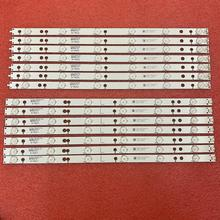 14 PIÈCES LED bande de rétro éclairage pour 49PUS6401 49PUH6101 49PUS6561 49PUS6501 LB49016 V1_00 01N21 01N22 LB49016 V1_00 TPT490U2 EQLSJA.G