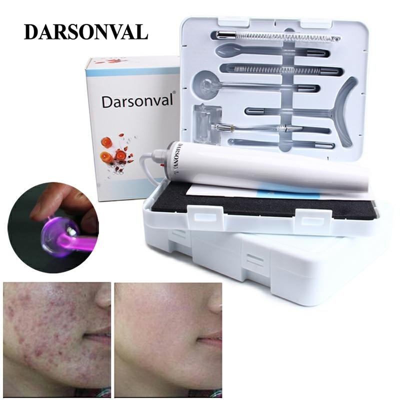 DARSONVAL Portable High Frequency Skin Care Device Violet Light Face Massager Acne Spot Remover Massageador Facial Therapy Spa