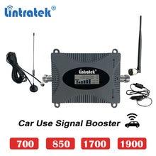 を Lintratek 車使用 cdma 850mhz 2 グラム 3 グラム携帯ブースター 1700 4 グラム 1900 umts 3 グラム B13 700 モバイル携帯電話信号リピータアンプ s6